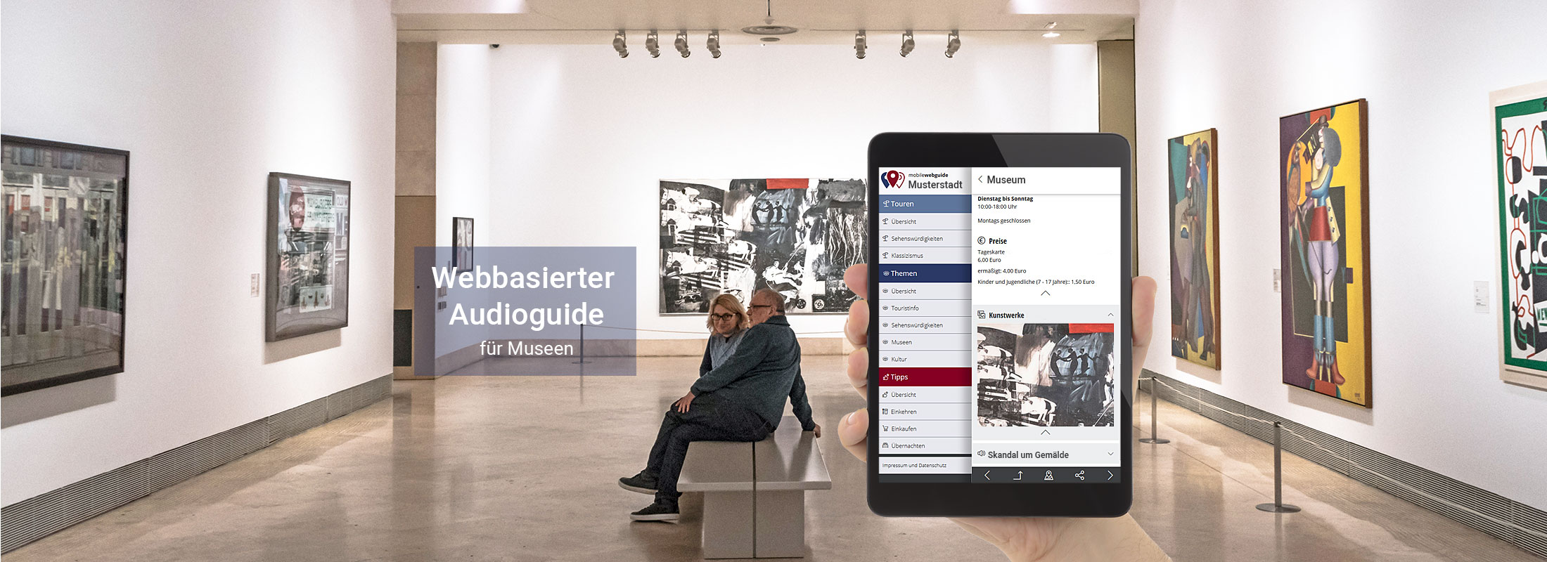 satelles mobilewebguide: Museums Guide und Audio Guide