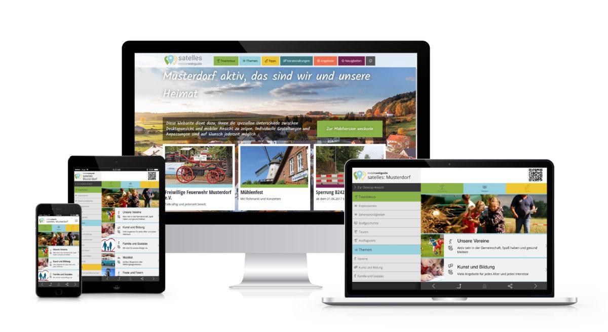 satelles mobilewebguide Dorf App, Bürger App, digitales Dorf, digitale Gemeinde